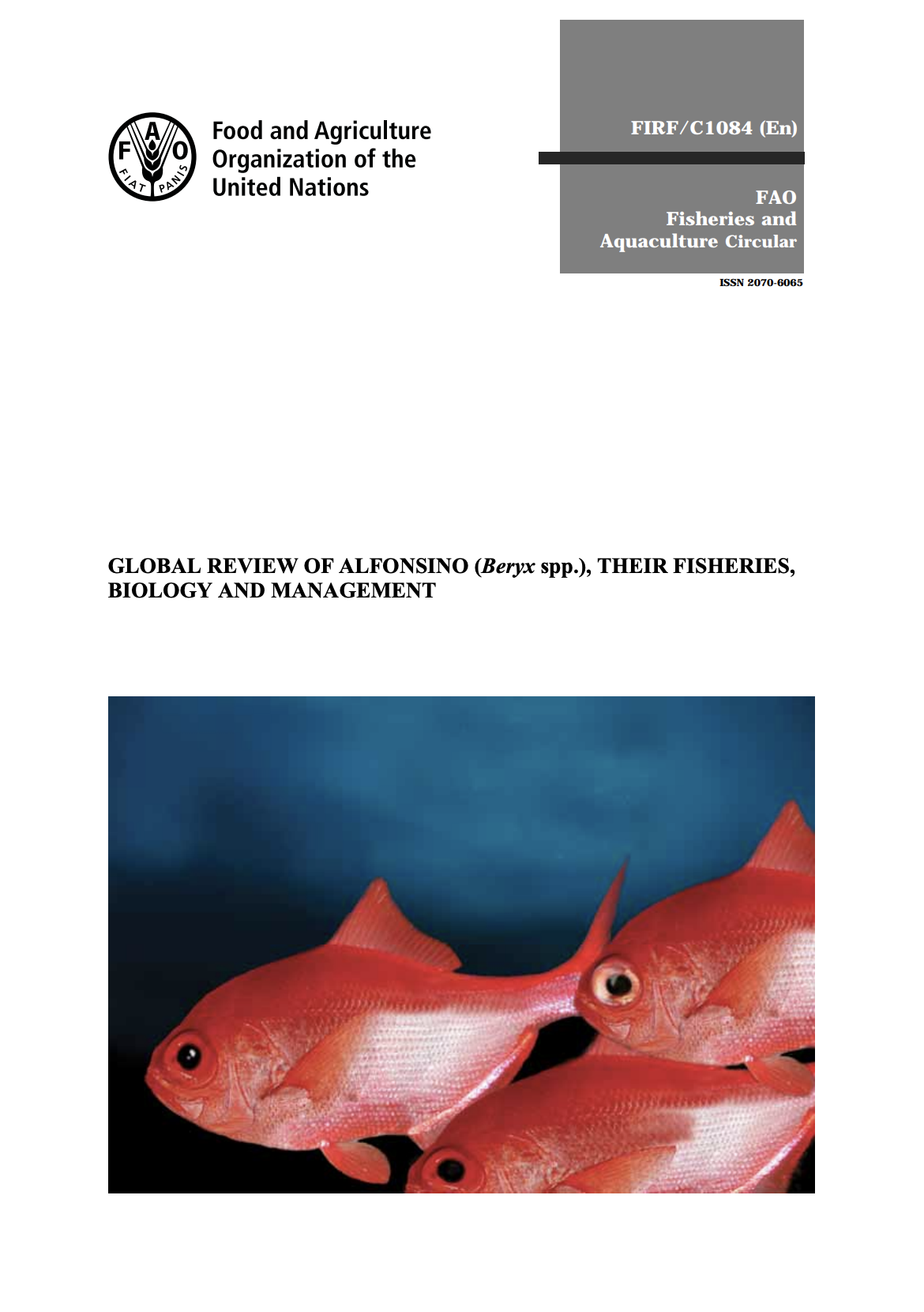 Global review of Alfonsino (Beryx spp.), their fisheries, biology and management