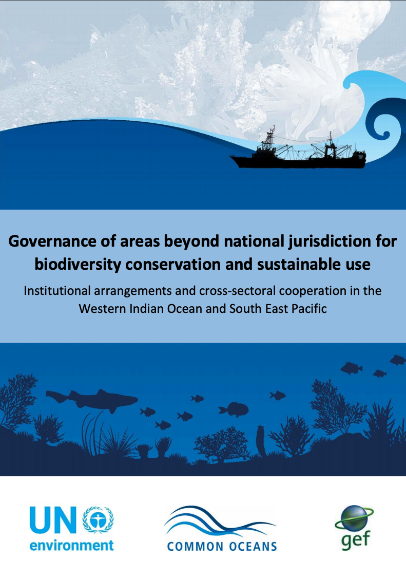 Governance of areas beyond national jurisdiction for biodiversity conservation and sustainable use: Institutional arrangements and cross-sectoral cooperation in the Western Indian Ocean and South East Pacific